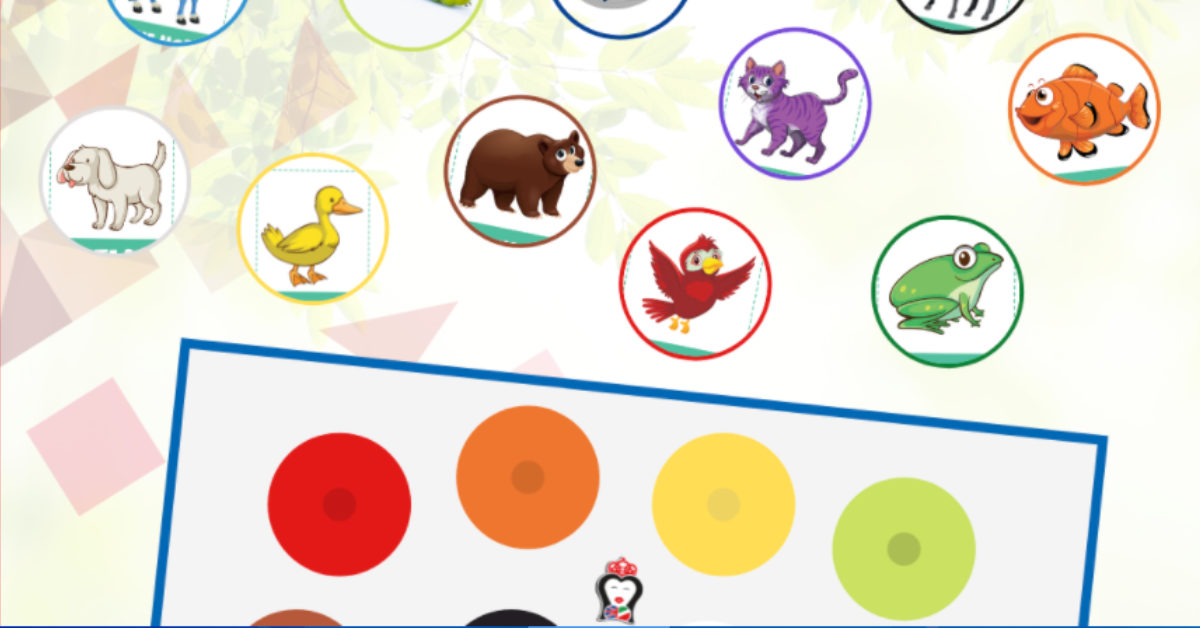 colori bambini inglese